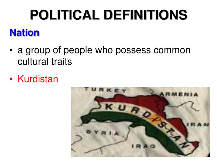 POLITICAL DEFINITIONS