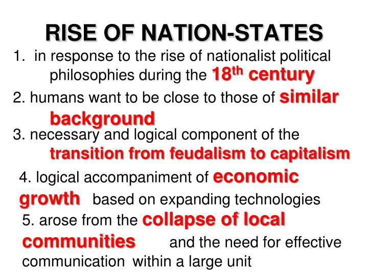 RISE OF NATION-STATES
