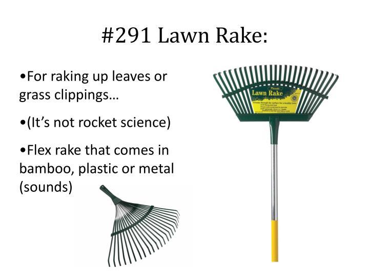 #291 Lawn Rake: