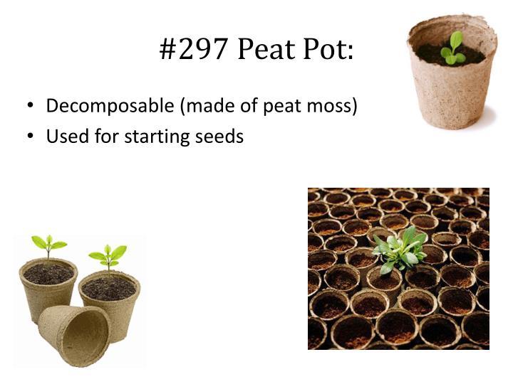 #297 Peat Pot: