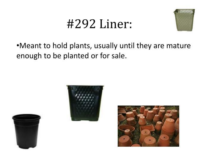 #292 Liner: