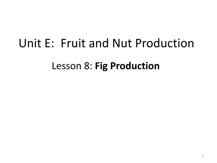 unit e fruit and nut production n.