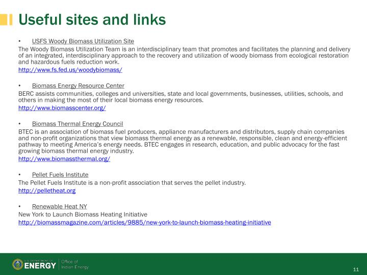 Useful sites and links