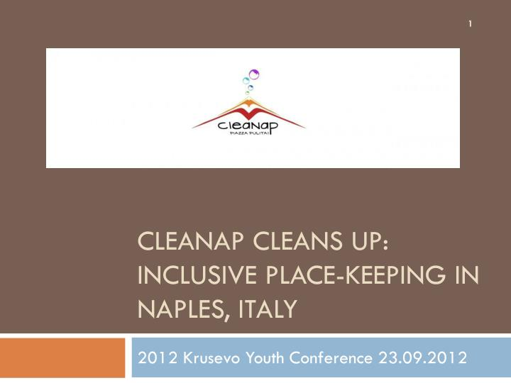cleanap cleans up inclusive place keeping in naples italy n.