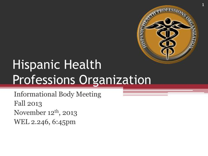 hispanic health professions organization n.