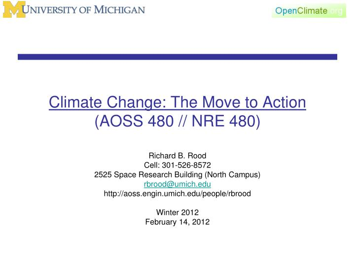 climate change the move to action aoss 480 nre 480 n.