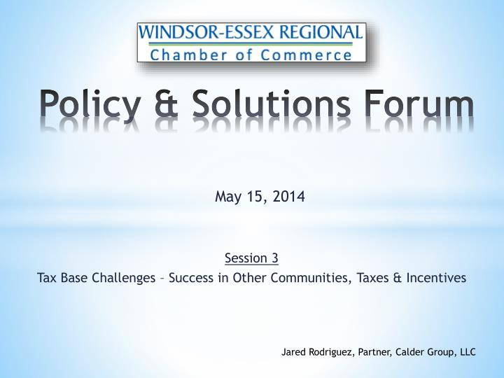 policy solutions forum n.