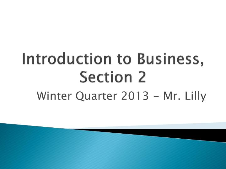 introduction to business section 2 n.
