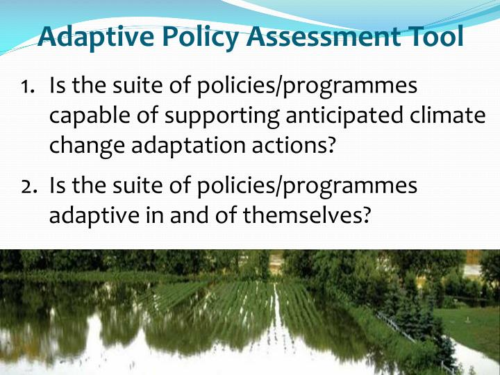 Adaptive Policy Assessment Tool