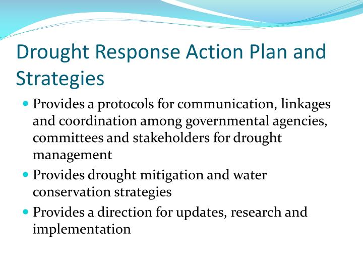 Drought Response Action Plan and Strategies