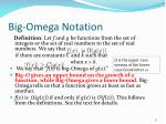 big omega notation