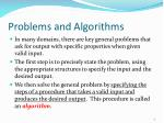 problems and algorithms