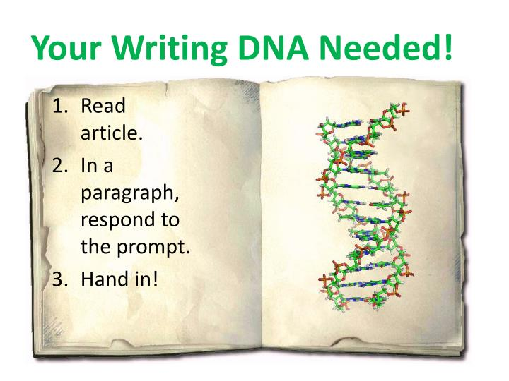 Your Writing DNA Needed!