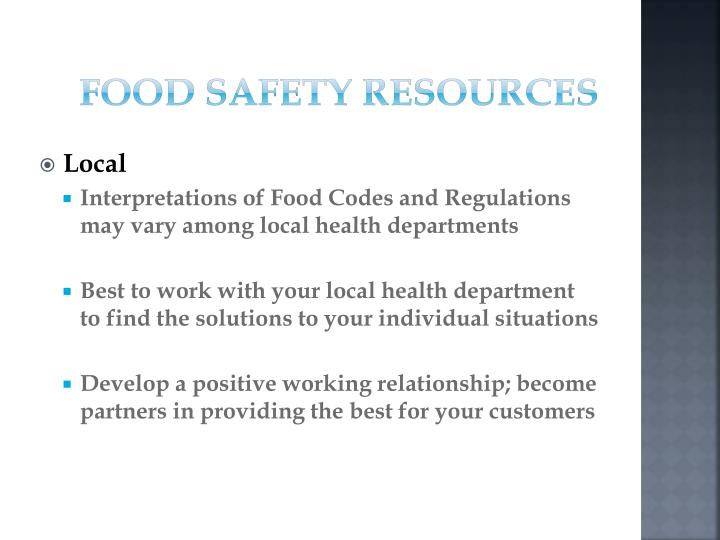 Food Safety Resources