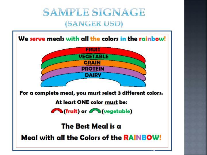 Sample Signage