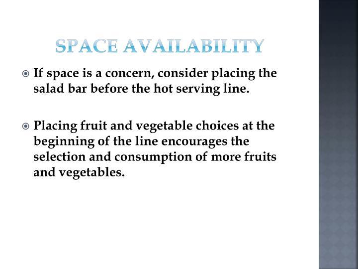 Space Availability