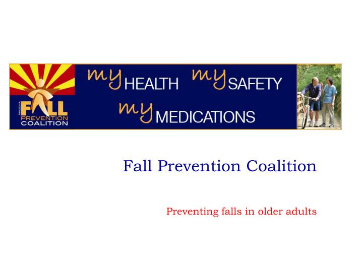 fall prevention coalition n.
