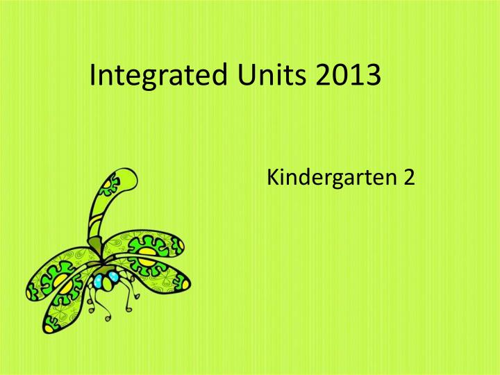 integrated units 2013 n.
