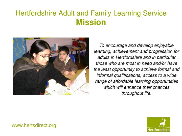 Variant Adult and community learning service