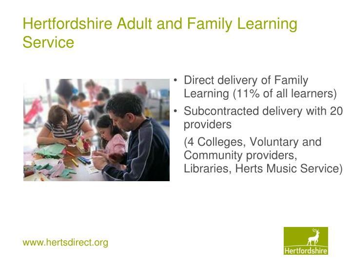 Apologise, Adult and community learning service