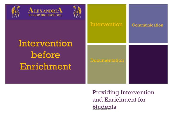 providing intervention and enrichment for students n.