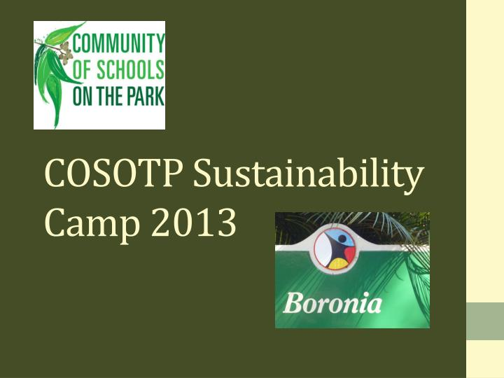 cosotp sustainability camp 2013 n.