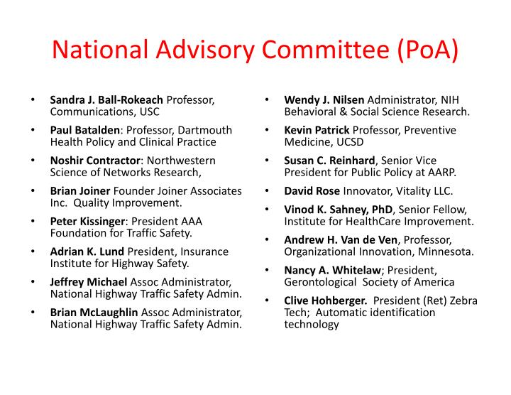 National Advisory Committee (
