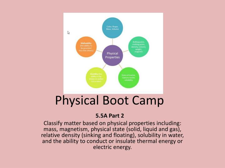 physical boot camp n.