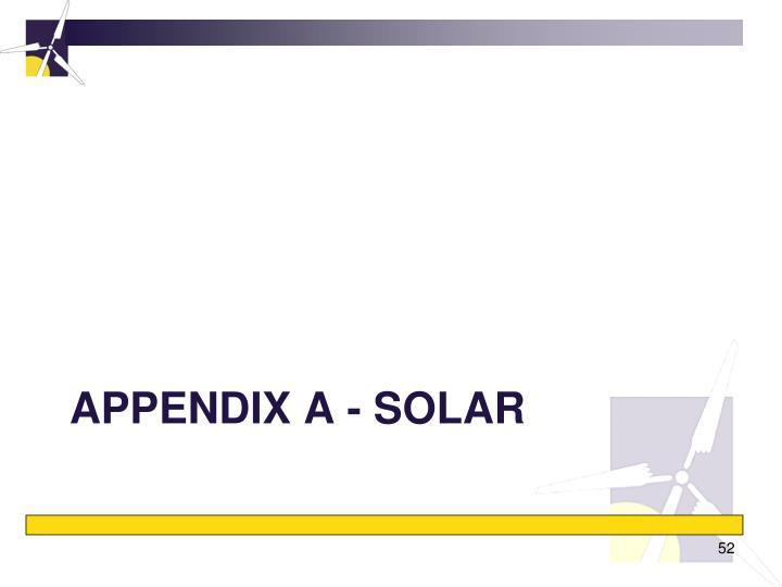 Appendix A - Solar