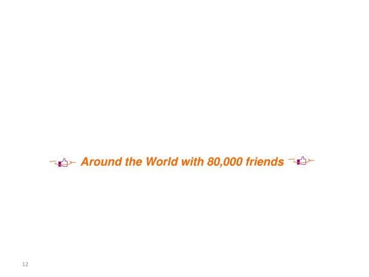 Around the World with 80,000 friends