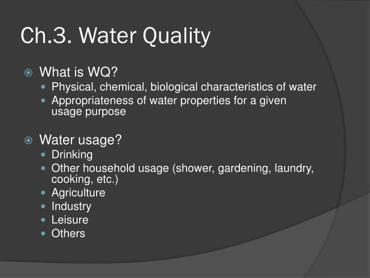 ch 3 water quality n.