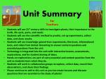 unit summary for teachers