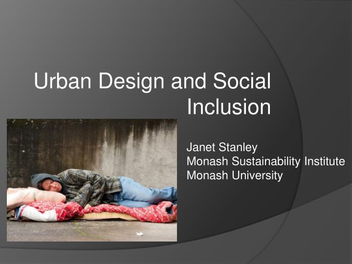 urban design and social inclusion n.