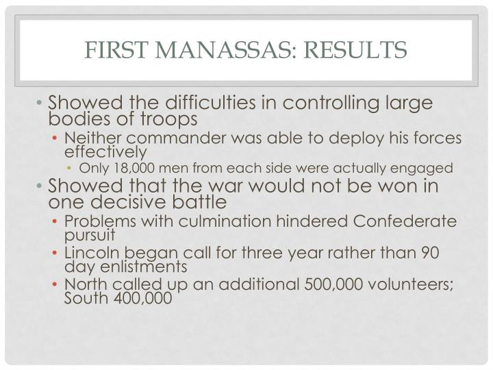 First Manassas: Results