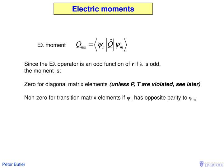 Electric moments