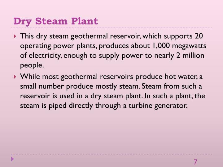 Dry Steam Plant