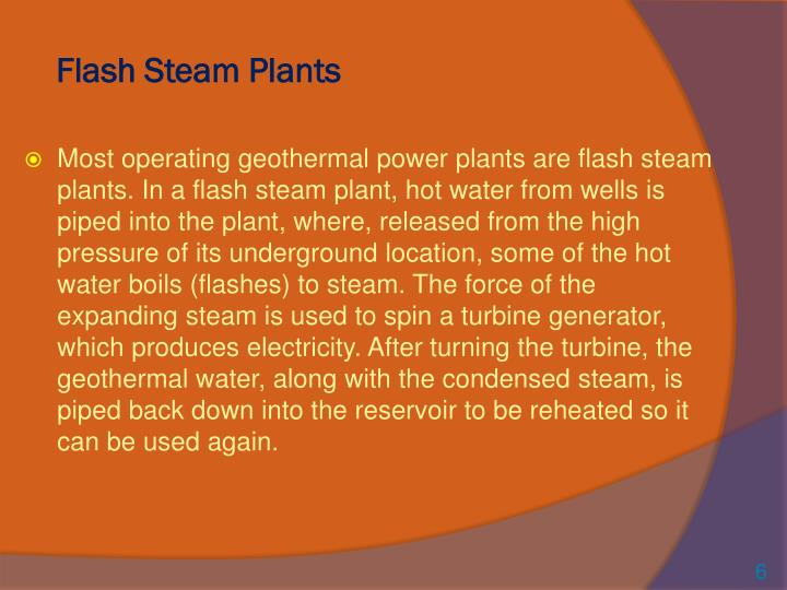 Flash Steam Plants