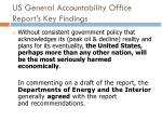 us general accountability office report s key findings1