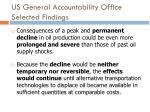 us general accountability office selected findings3