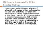 us general accountability office selected findings5