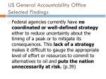 us general accountability office selected findings6