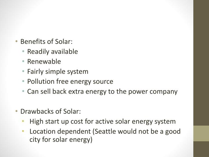 Benefits of Solar: