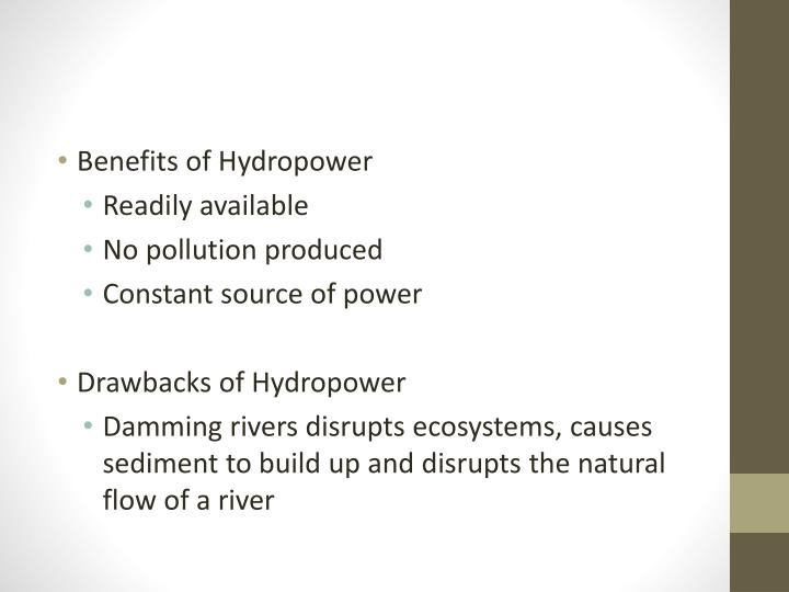 Benefits of Hydropower