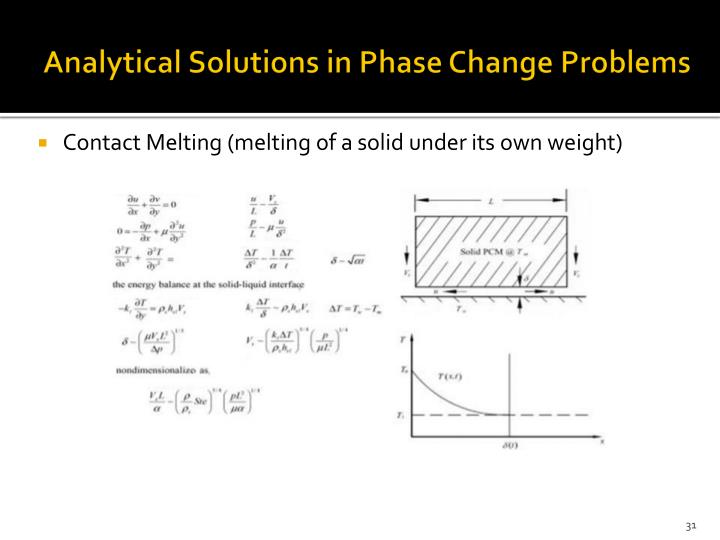 Analytical Solutions in Phase Change Problems