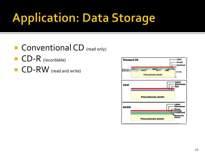 Application: Data Storage