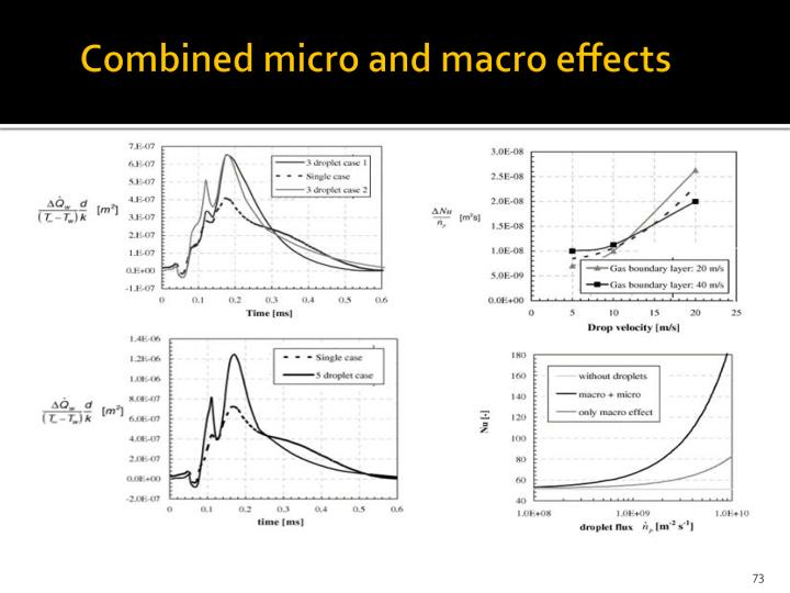 Combined micro and macro effects
