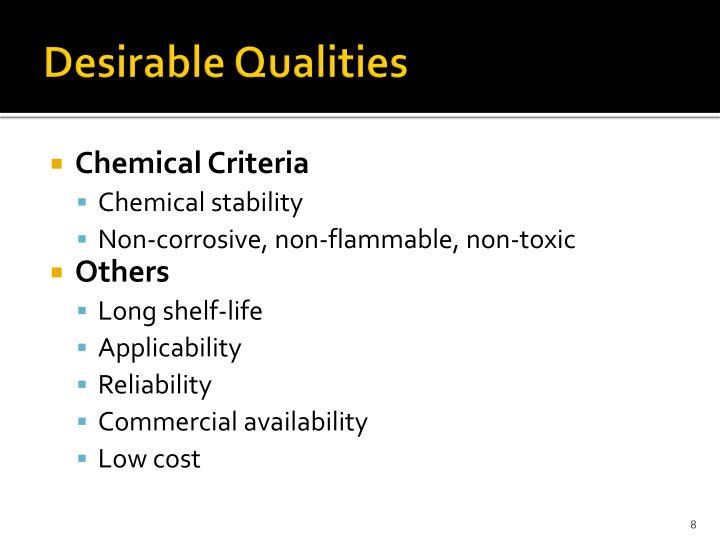 Desirable Qualities