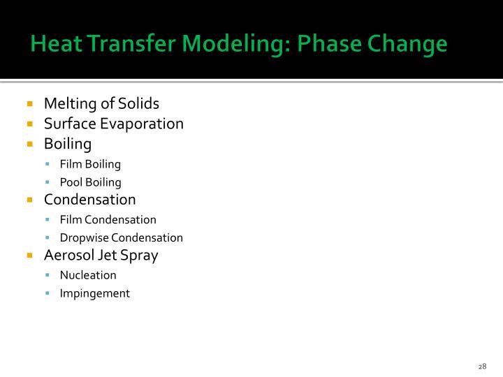 Heat Transfer Modeling: