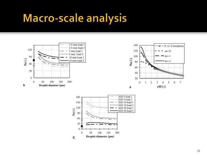 Macro-scale analysis