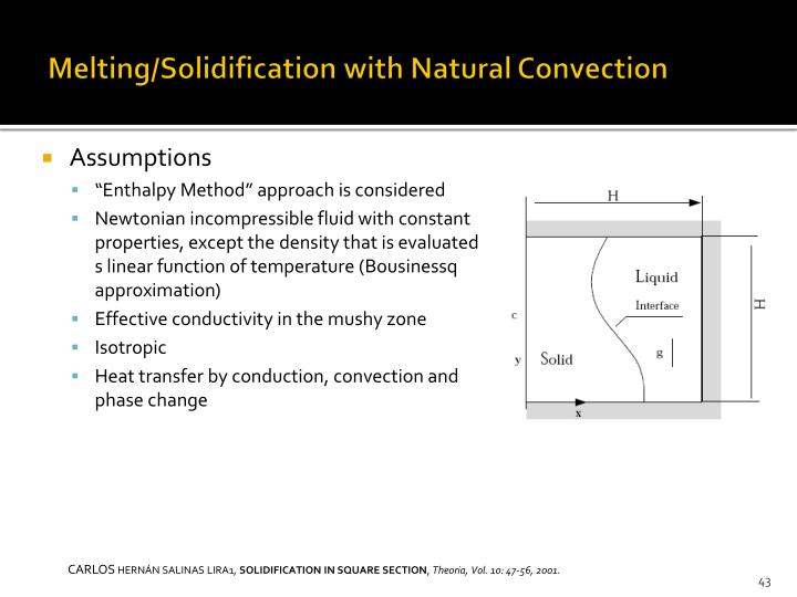 Melting/Solidification with Natural Convection